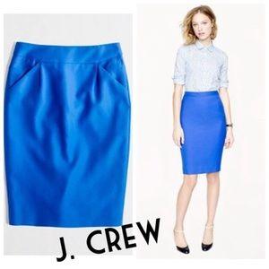 Jcrew no 2 pencil skirt blue knee length 6